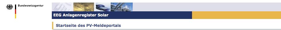PV Meldeportal der Bundesnetzagentur
